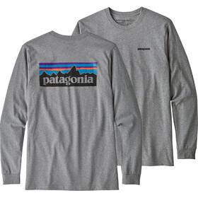 Patagonia P-6 Logo Responsibili-Tee Longsleeve Shirt Herre gravel heather